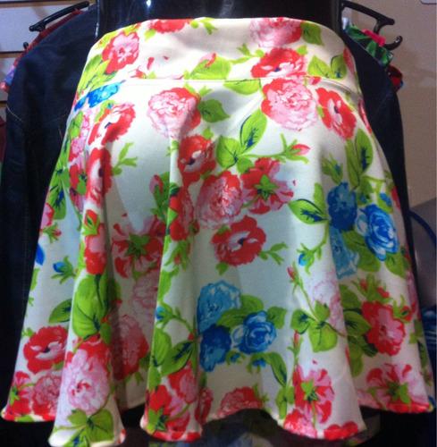 faldas cortas flores moda