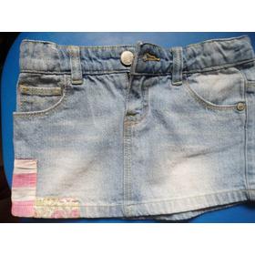 Faldas De Blue Jeans Pre-lavadas Para Niñas.