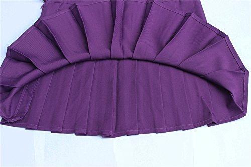 faldas de tenis deportivas de tamaño plisado plus para mujer