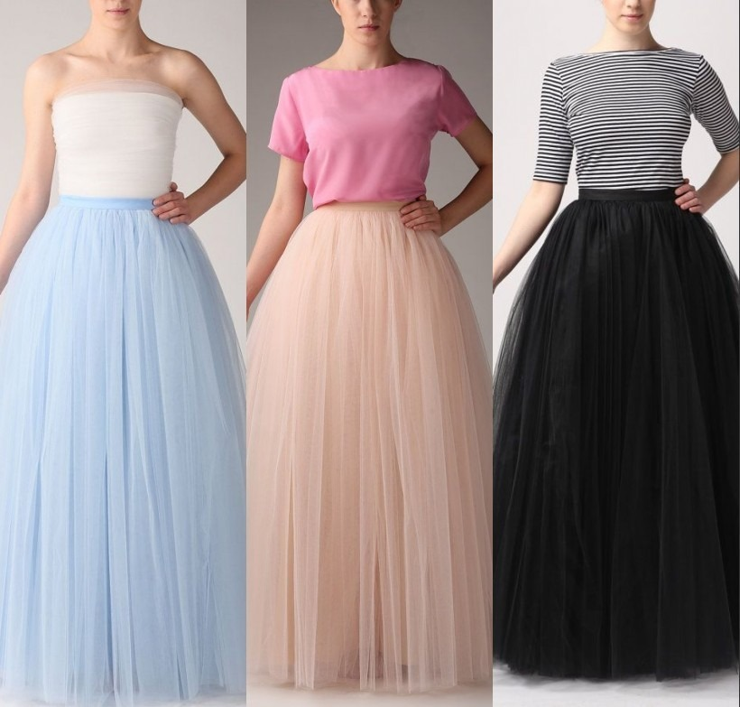 how to make a long tulle skurt