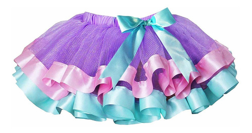 faldas de tutú de lavanda en capas para niñas con dia...