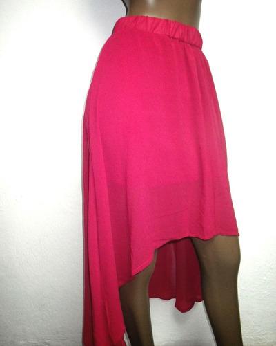 faldas de vestir tela chifon forradas
