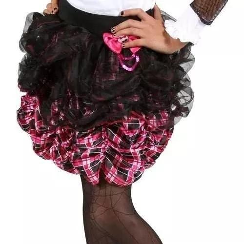 faldas disfraz monster high original, importado de usa