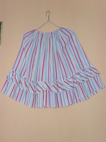 faldas en lino corrugado a rayas