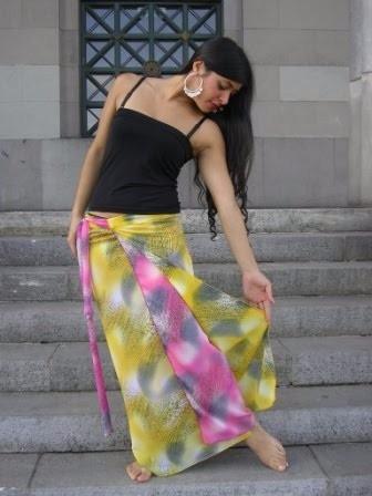 faldas estampadas largas urbanas tipo pareo para atar