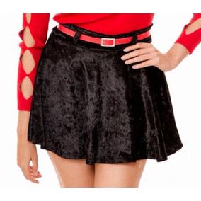 1a08b04daca19 Falda Negra De Terciopelo - Faldas al mejor precio en Mercado Libre ...