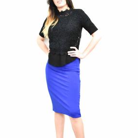c11630ce03b Falda Larga Mujer - Faldas Largas Tubo de Mujer Azul en Mercado ...