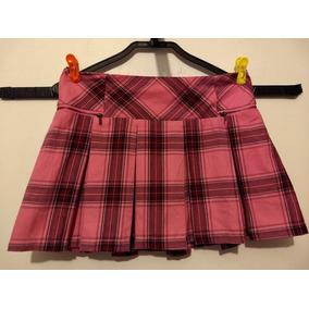 3463923ad5 Minifalda Colegiala Con Short Justice Talla Grande Rosa