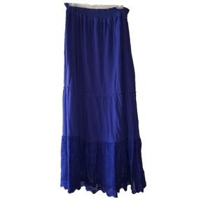 7fcb9434ec Maxi Falda Mca Izod Color Azul Dama Gitana Falda Larga T m
