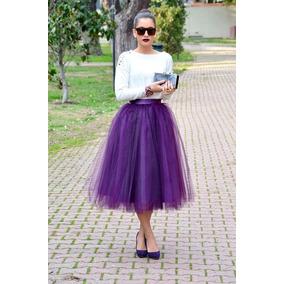 acd5006358 Falda Tul Unitalla Lolita Moda Japonesa Retro Vintage Morado
