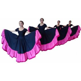 092070f3b Falda De Danza Doble Vuelo Faldas - Faldas Circulares en Mercado ...