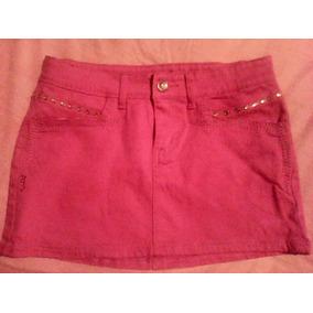 377c51b2f10 Falda Tela Tipo Jeans Color Fucsia 9 10