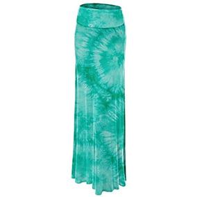 250d2ed7f Faldas Wb1058 Mujeres Tie Dye Fold Over Maxi Falda Xl Jade