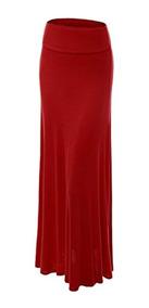 978808ce8 Faldas Wb670 Falda Larga Plegable Para Mujer L Merlot