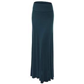 db089355b Faldas Wb670 Falda Maxi Plegada Para Mujer M Teal