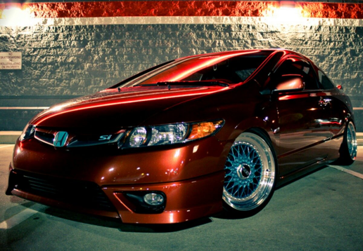 2008 Honda Civic Si Coupe Faldon Delantero Lip Frontal Spoiler Honda Civic Coupe 06 ...