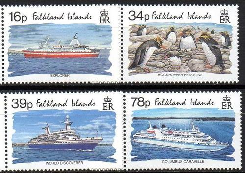 falkland is./ malvinas 1993 - turismo nas ilhas. navios (4)