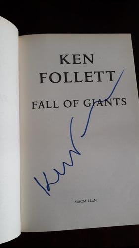 fall of giants - edição autografada