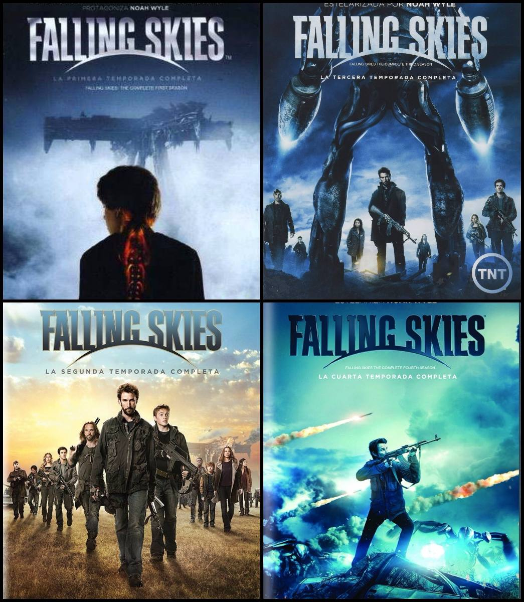 Falling Skies Paquete Temporadas 1 2 3 Y 4 Serie Blu-ray ...