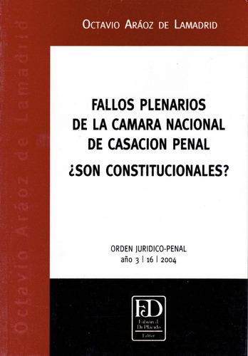 fallos plenarios de la cámara nacional de casación penal.