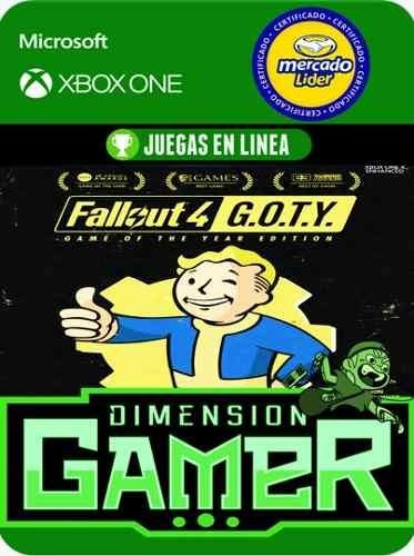 fallout 4 goty - xbox one - modo local + en linea