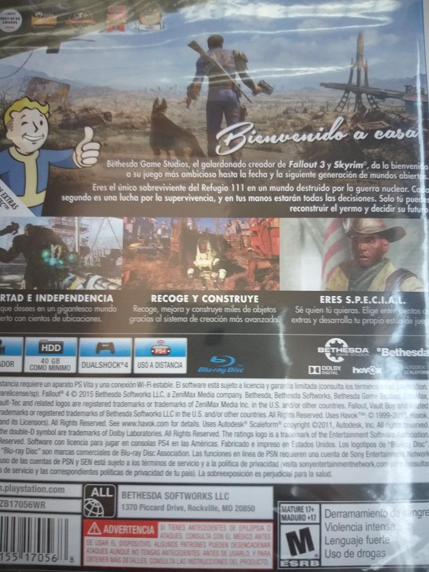 Fallout 4 Ps4 - $ 2.499,00 en Mercado Libre