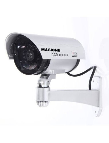 falsa cámara seguridad