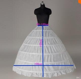 falso de novia 6 varillas adaptable en la cintura
