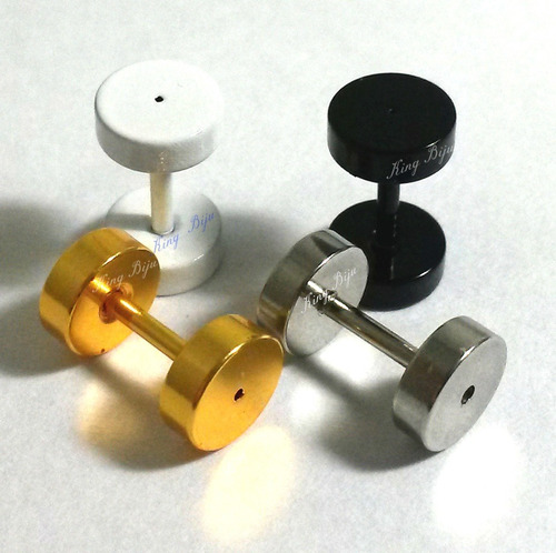 falsos alargadores imitam 6mm furo de brinco comum, 4 peças!