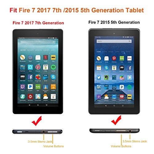 famavala folio case cover para 7 pulgadas fire 7 tablet [5ta