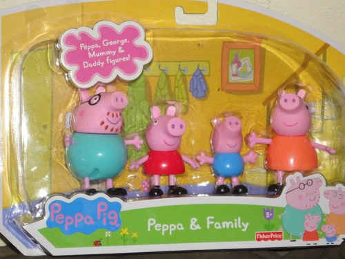 família boneca peppa pig miniatura peppa george kit peppa