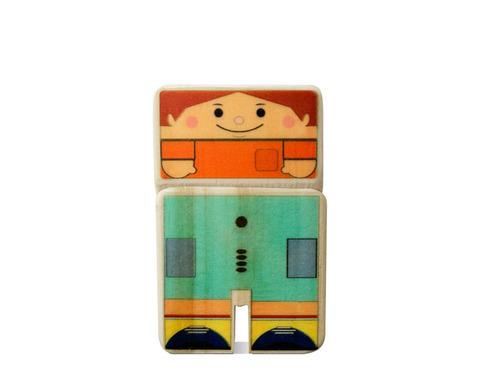 família brinquedo de madeira kitopeq