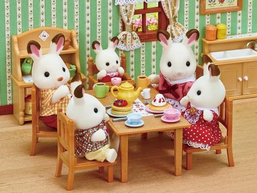 família dos coelhos chocolate - sylvanian families