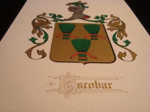 familia escobar, escudo heraldico