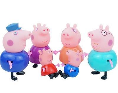 família peppa pig e amigos 19 pçs - frete grátis menor preço