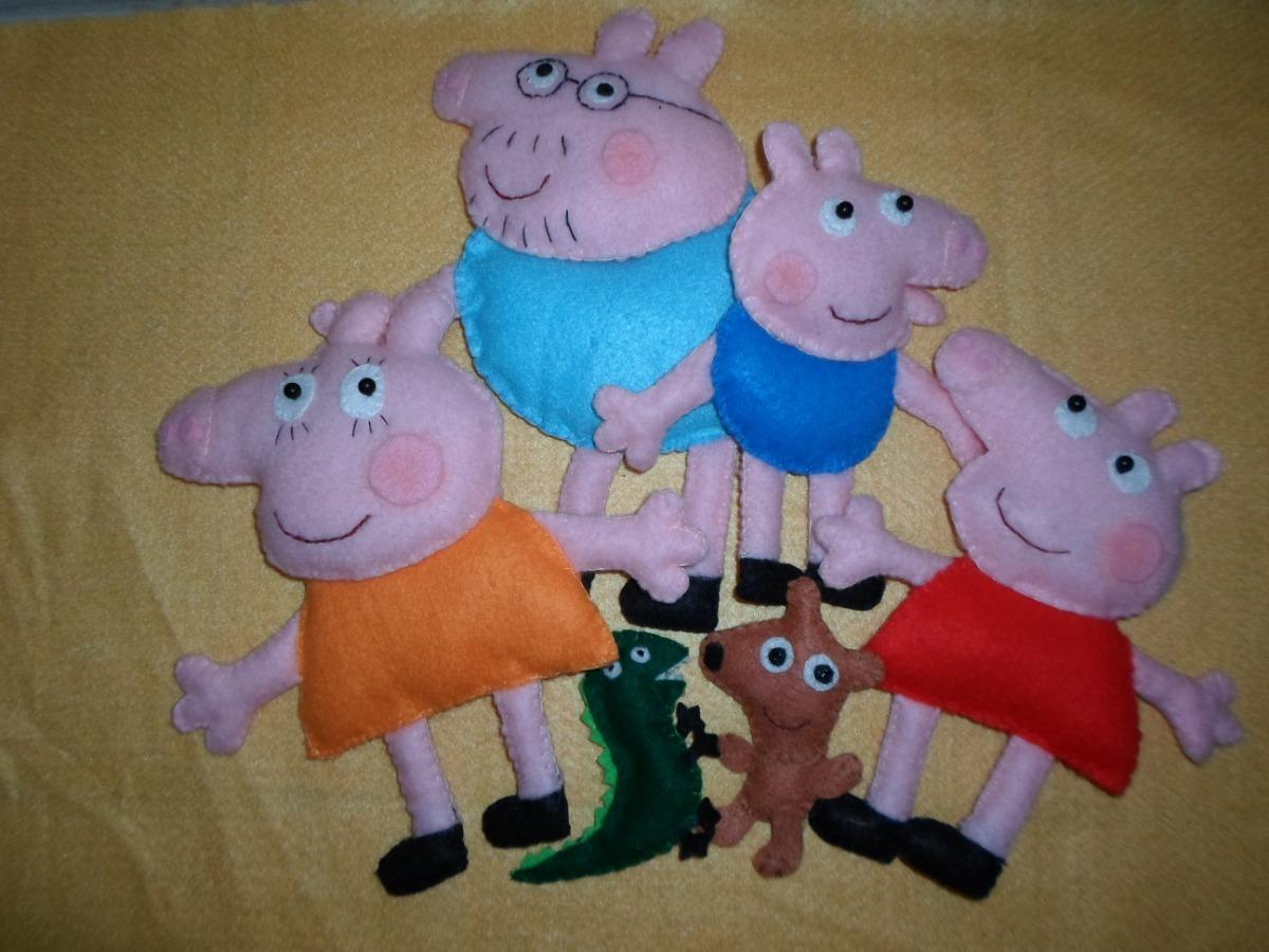 Familia Peppa Pig Muneco Figura En Fieltro Panolenci 900 00