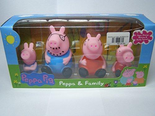 Familia Pig Peppa Pig Set De 4 Figuras De Hule Juguete Pepa Bs
