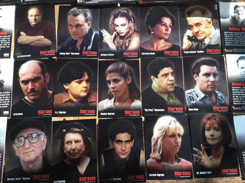 familia the sorpanos 72 trading cards set completo inkworks
