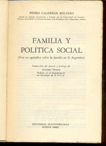 familia y política social, pedro calderón beltrao.
