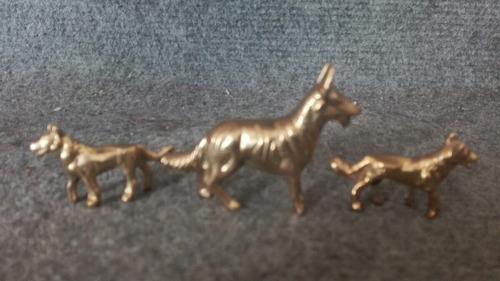 familias de animalitos de bronce nuevas 7.500 c/u