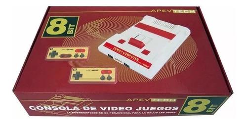 family game apevtech retro con 2 joystick incluye 114 juegos