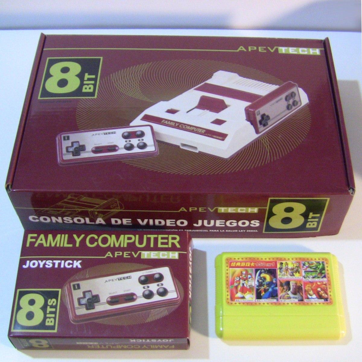 Family Game Apvtech Retro 2 Joystick Mejores 150 Juegos