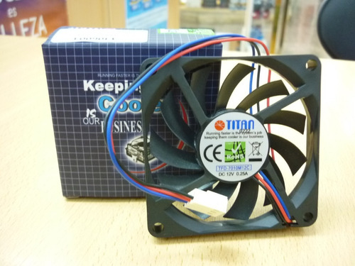 fan 70mm 3pin titan tfd-7010m12c s/luz 3500rpm rulem+buje