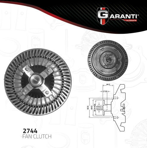 fan clutch  chevrolet g20 v8 5.0l 5.7l 1996-1997