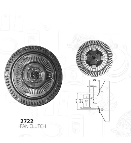 fan clutch  chevrolet s10 pickup l4 2.5l 1987-1993