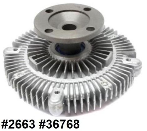 fan clutch de ventilador isuzu axiom 3.5l v6 2002 - 2002