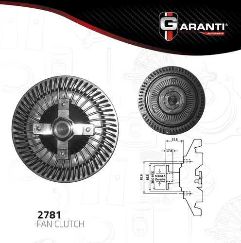 fan clutch  dodge dakota v8 4.7l 2000-2004