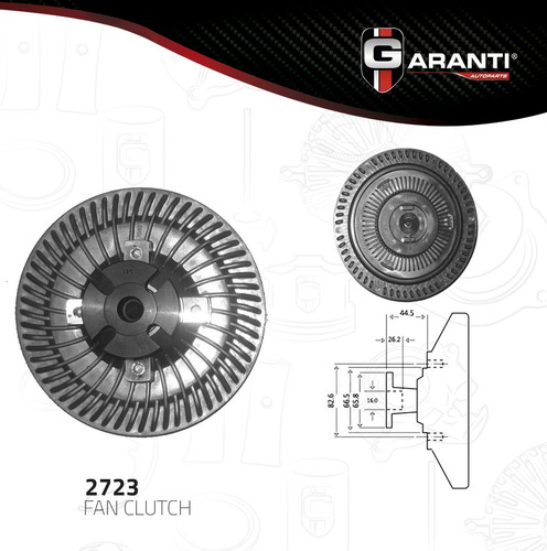 fan clutch  mercury grand marquis v8 5.0l 1984-1986