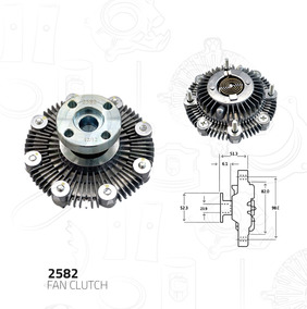 Fan Clutch Motor Suzuki Samurai 1 3 1986-1995 Sidekick 1989