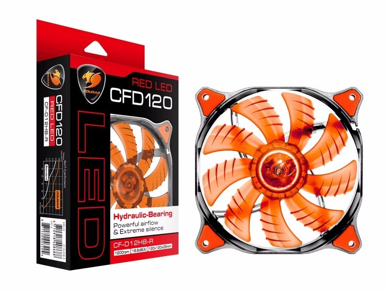 Resultado de imagem para Ventilador Cougar Gaming CFD 120mm LED Red